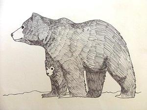 300x225 Bear Cub Drawings