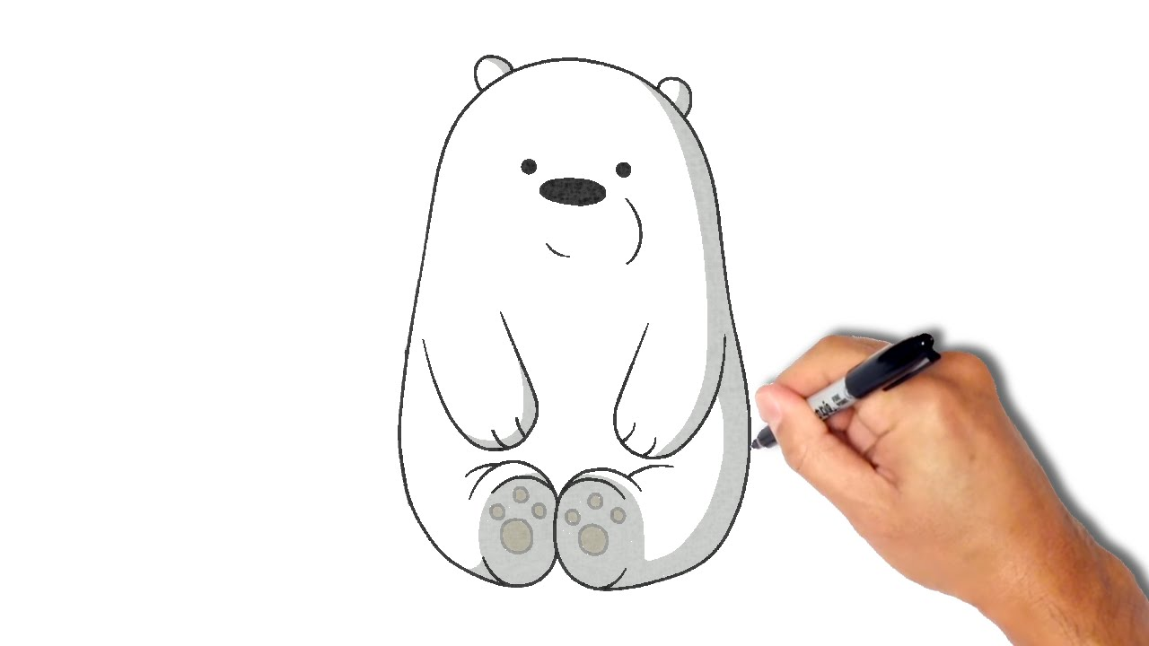 1280x720 How to draw and paint Ice Bear [1 minute]