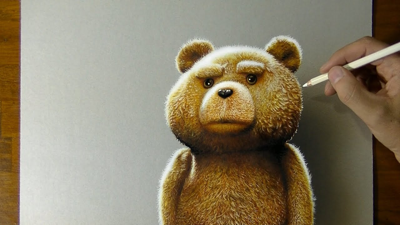 1280x720 Ted Teddy Bear Drawing