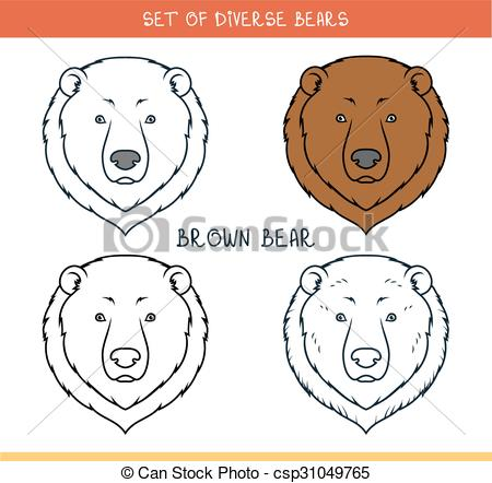 450x442 How To Draw A Grizzly Bear Face Drawn Grizzly Bear Face Pencil