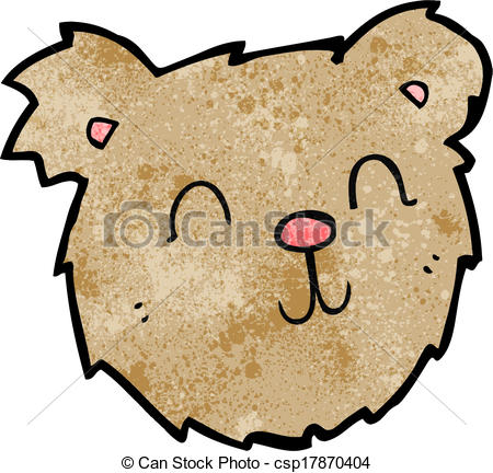 450x432 Cartoon Happy Teddy Bear Face Vector Clipart