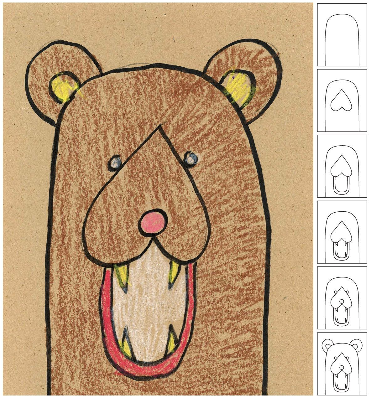 1184x1271 Draw A Bear Head Bears, Art Lessons And Drawings