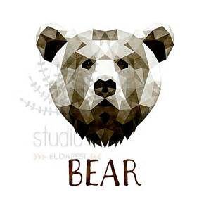 300x300 Geometric Bear Face Drawing Tattoos Geometric Bear