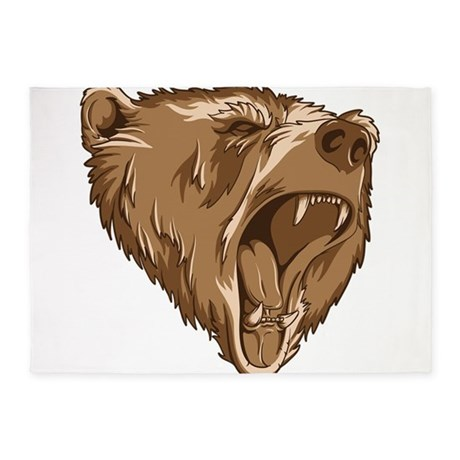 460x460 Grizzly Bear Roar Rugs, Grizzly Bear Roar Area Rugs Indoor