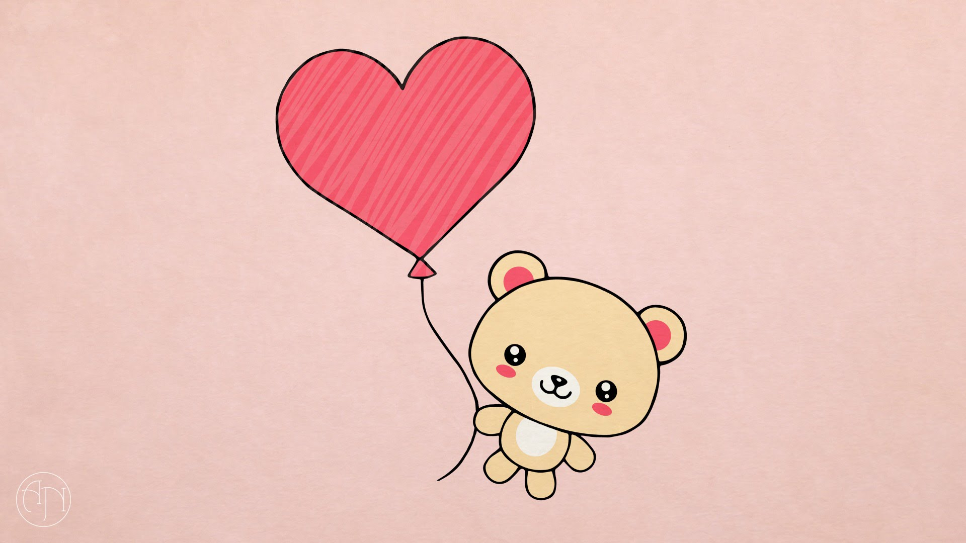 1920x1080 How To Draw] Valentine's Day Present Teddy Bear With Heart