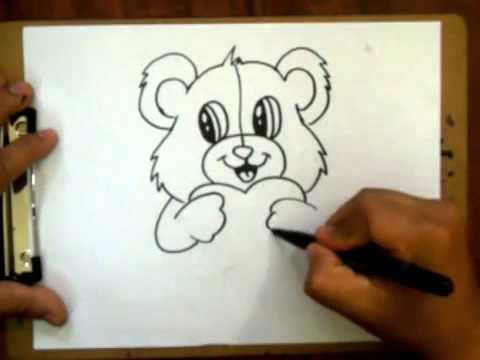 480x360 How To Draw A Valentines Teddy Bear With A Heart Requested
