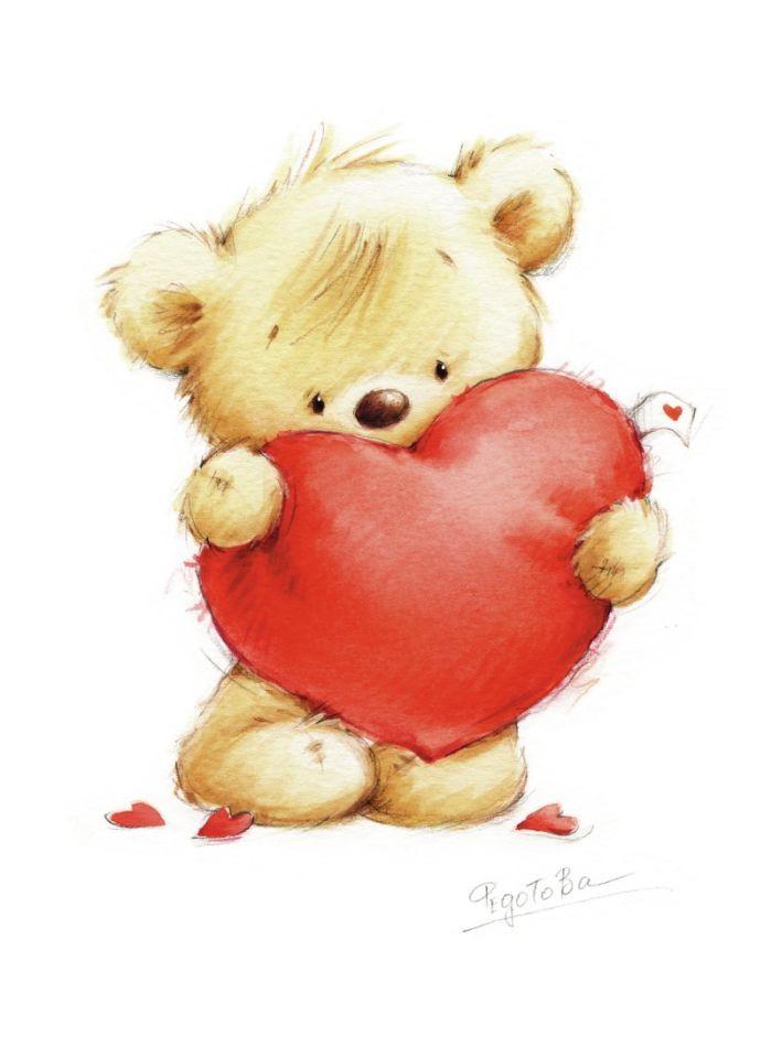 700x941 Photos Cute Teddy Bear Heart Drawing,