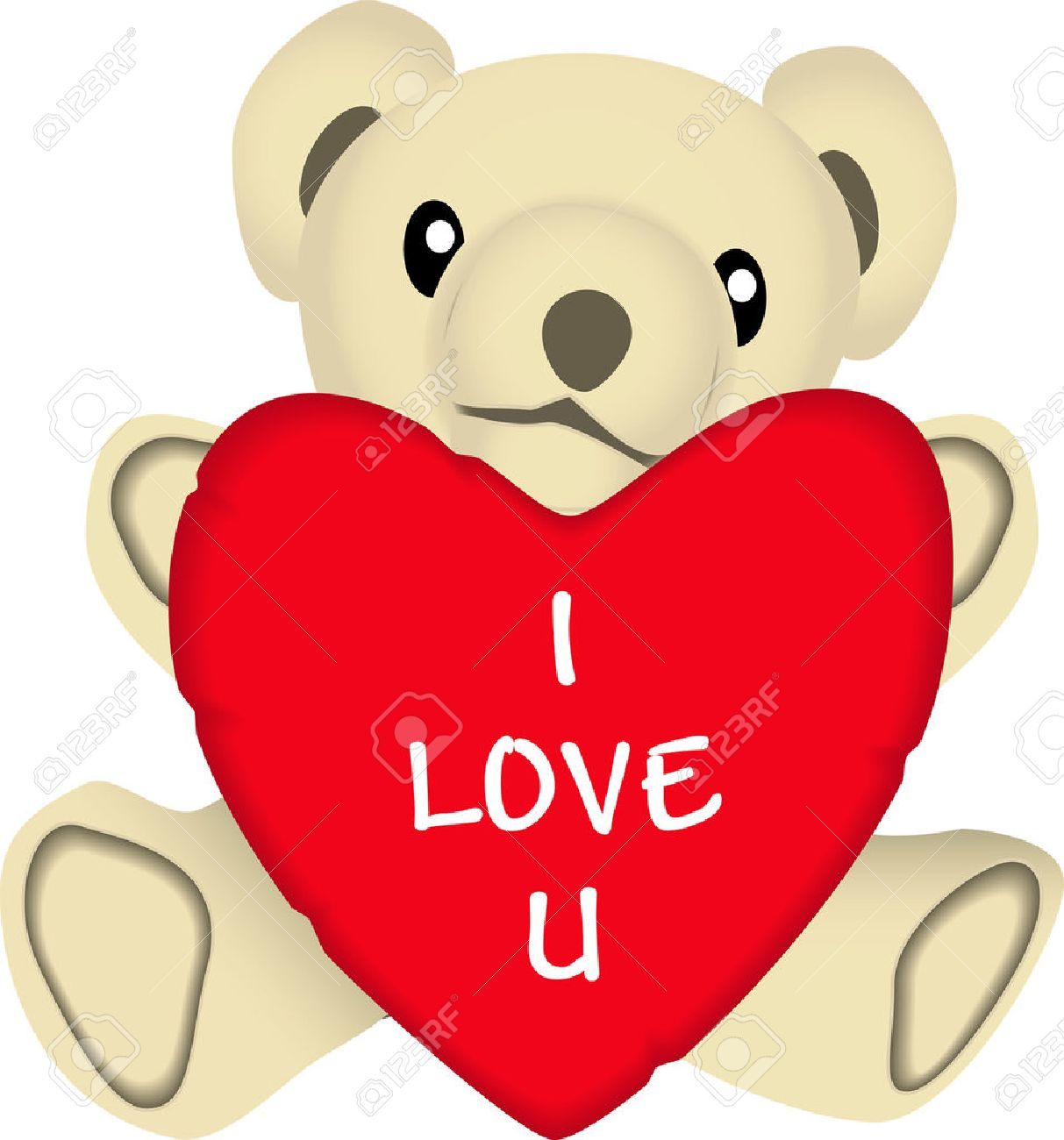 1213x1300 Vector Drawing Of A Stuffed Bear Holding A Valentines Heart