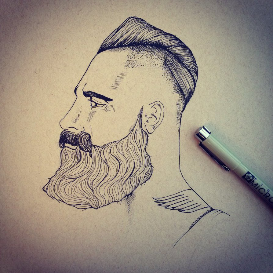 894x894 Beard Drawing 2 By Netleya