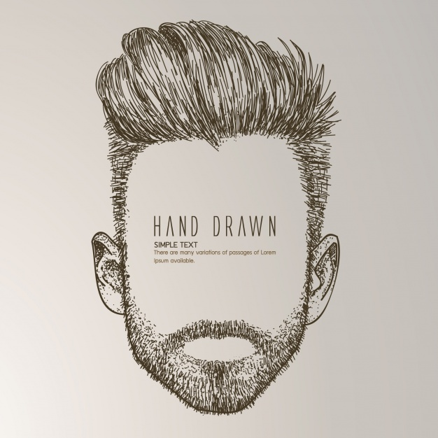 626x626 Hand Drawn Man With Beard Vector Free Download