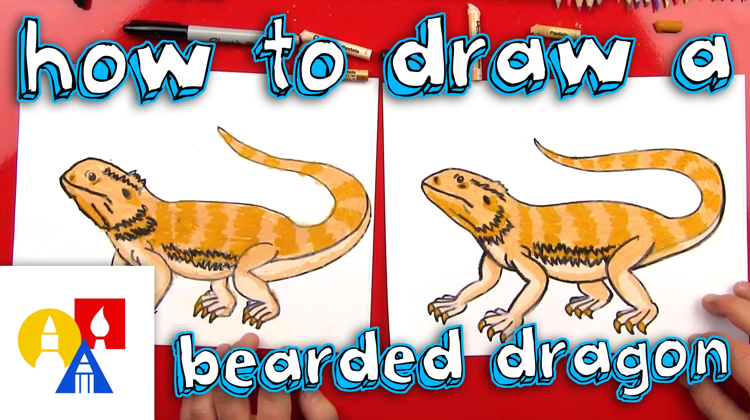 2463x1381 How To Draw A Bearded Dragon