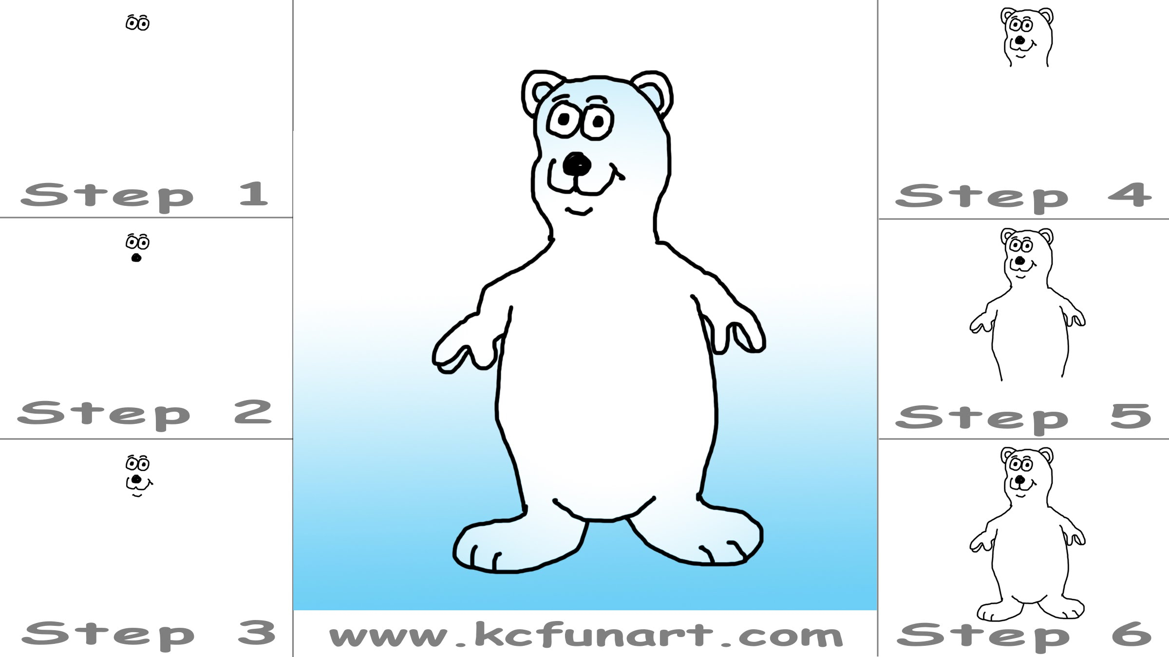 2400x1350 Polar Bear Drawing Step By 45 How To Draw A Cartoon