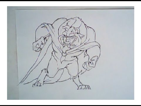 480x360 How To Draw The Beast From Beauty And The Beast (Drawing Tutorial