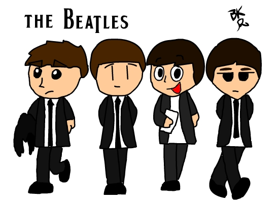550x400 Another Beatles Drawing By Blackrayquaza1