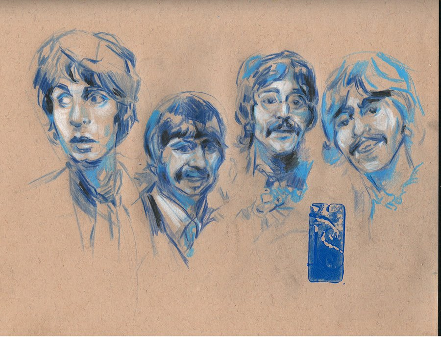 900x687 Beatles Draw By Always Foreverlilly