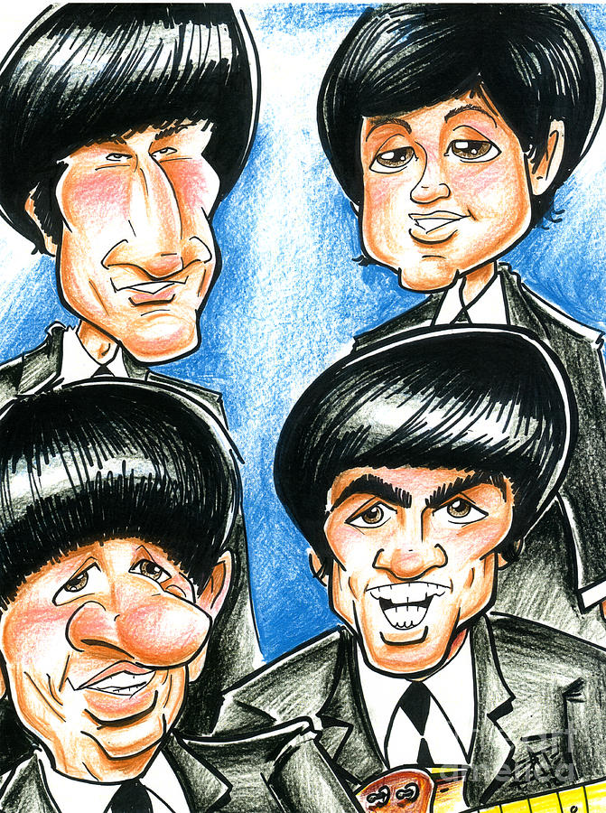671x900 The Beatles Drawing By Big Mike Roate