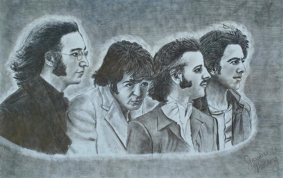900x568 The Beatles Drawing By Jessica Hallberg