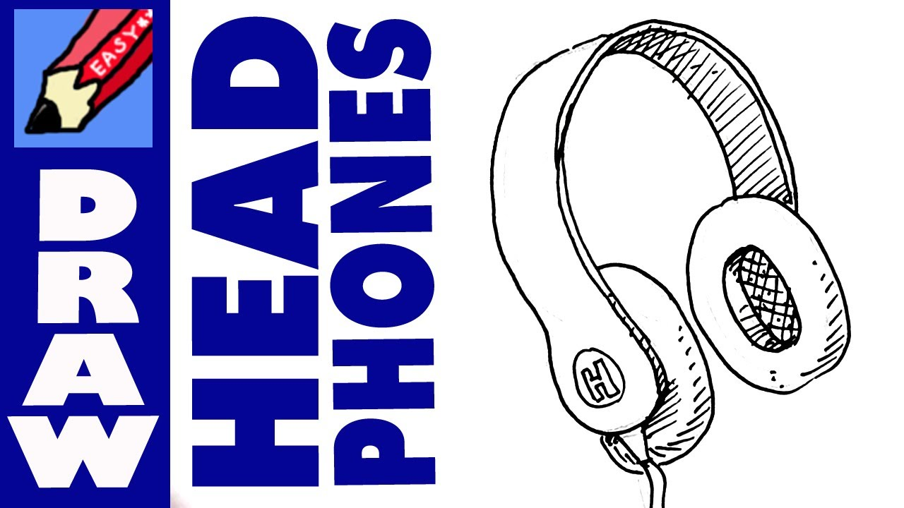 1280x720 How To Draw A Pair Of Headphones Real Easy