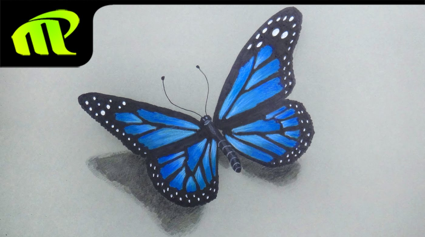 1400x783 Beautiful Butterfly Drawing