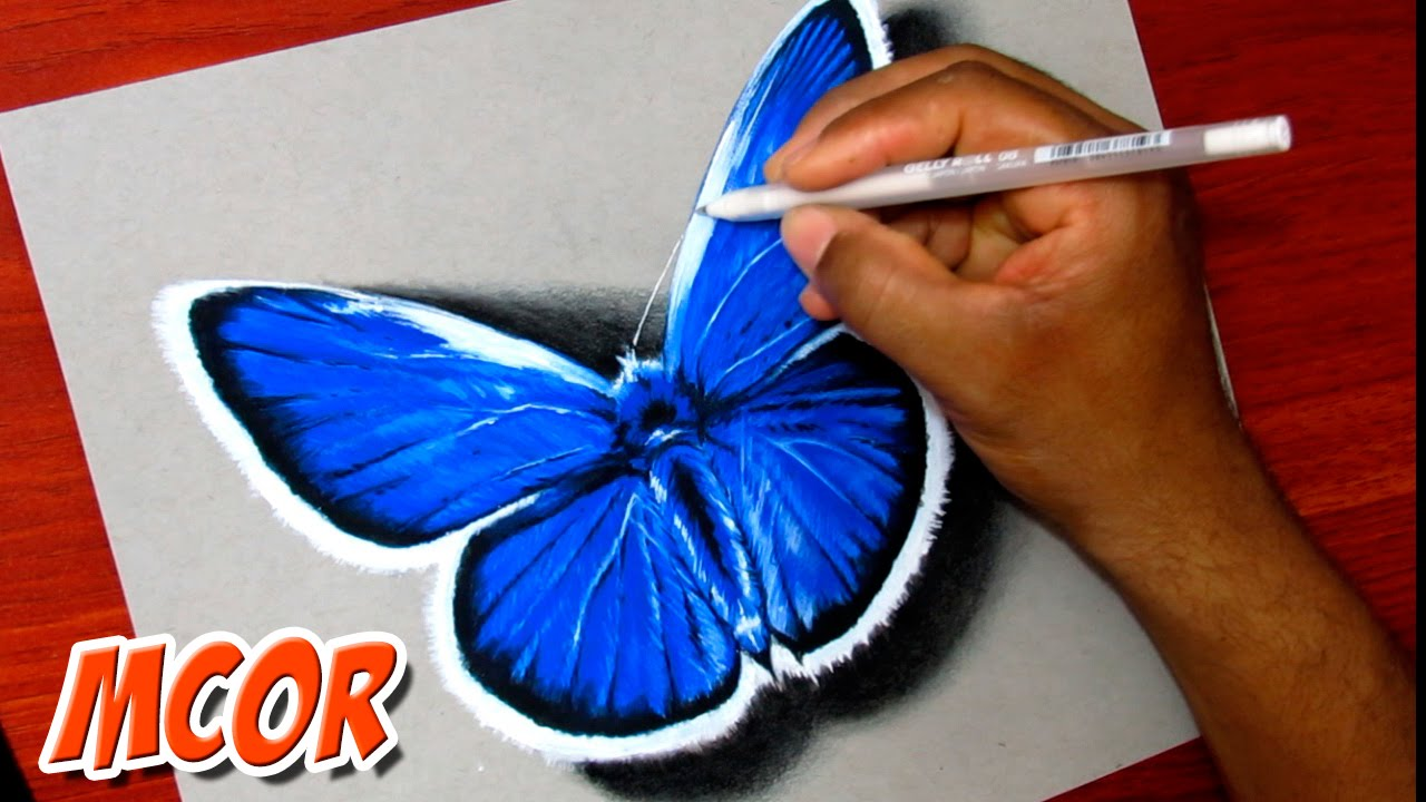 1280x720 How To Draw A Beautiful Butterfly