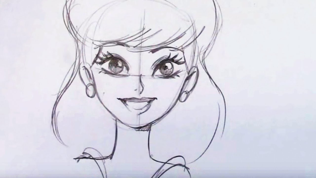 1280x720 Beautiful Drawings Of Cartoons How To Draw A Pretty Girl Cartoon