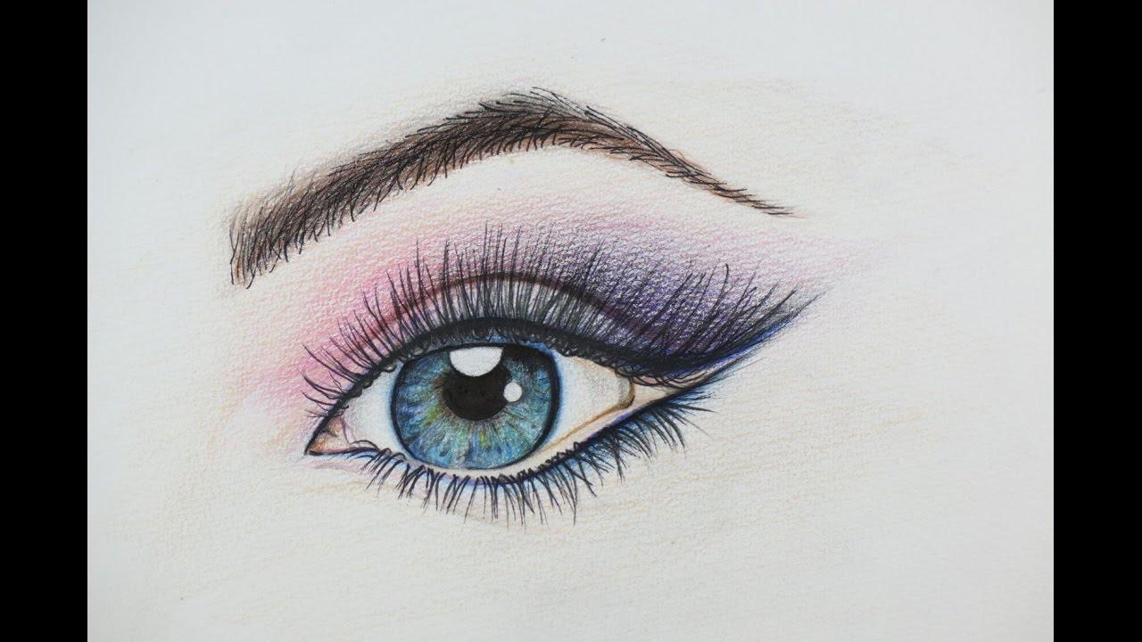 1280x720 Diy Beautiful Eye Drawing. How To Draw An Eye, Amazing Example