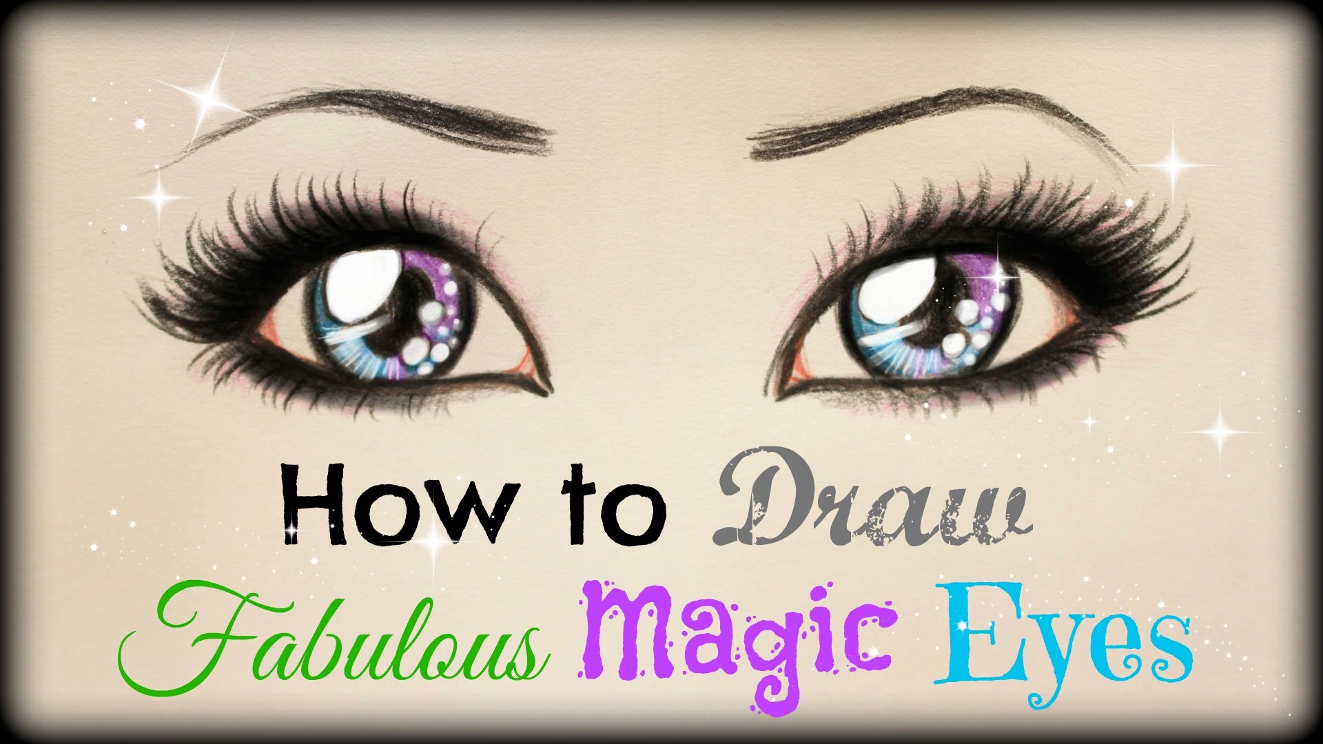 1920x1080 Drawing Tutorial How To Draw And Color Fabulous Magic Eyes