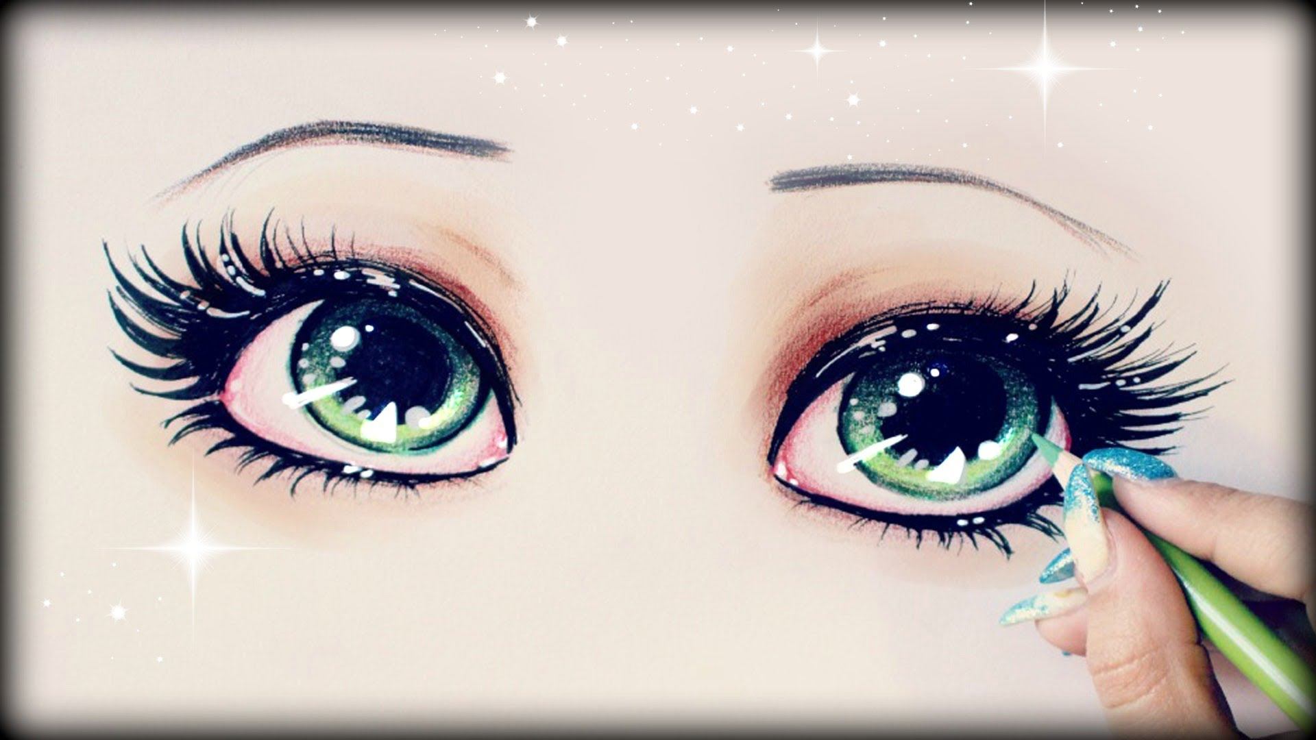 1920x1080 Drawing Tutorial How To Draw And Color Green Eyes