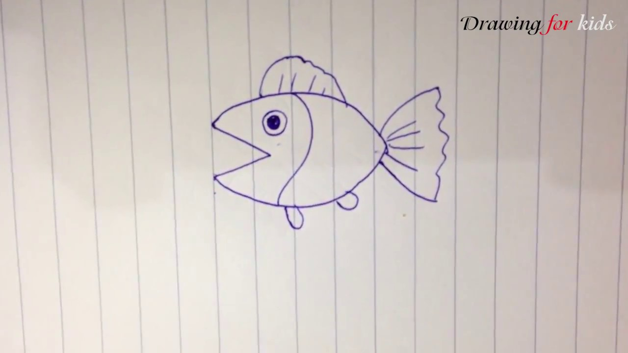 1280x720 How To Draw The Simplest And Most Beautiful Fish