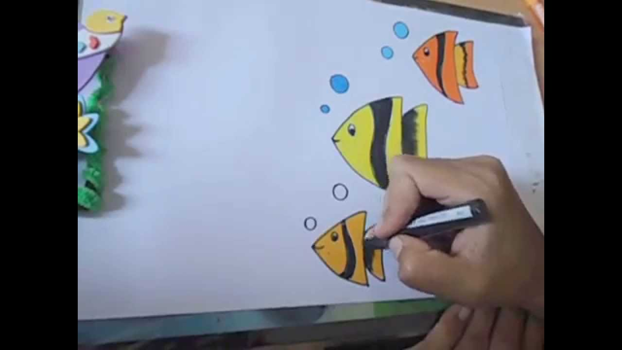 1280x720 How To Draw Beautiful Fish In Easy Steps