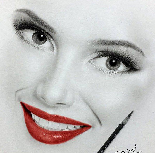 602x592 Beautiful Girl Pencil Drawing By Ayman Image Preview Image