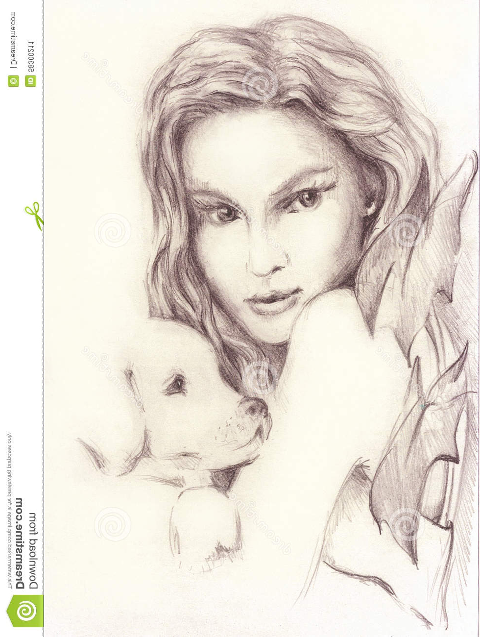 980x1300 Beautiful Girls Pencil Drawing Image Beautiful Girl With A Small