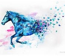 215x185 Art, Beautiful Drawing, Blue, Diy, Draw, Drawing, Horse, Paint