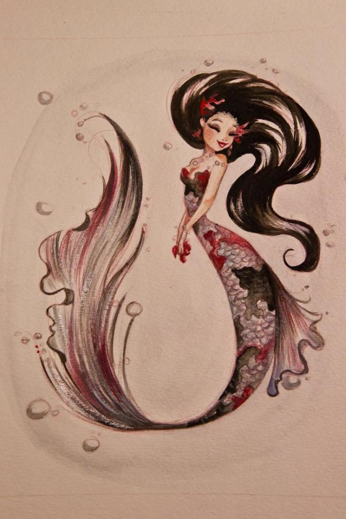 683x1024 Beautiful Pencil Painting Of Mermaid 1000 Ideas About Beautiful
