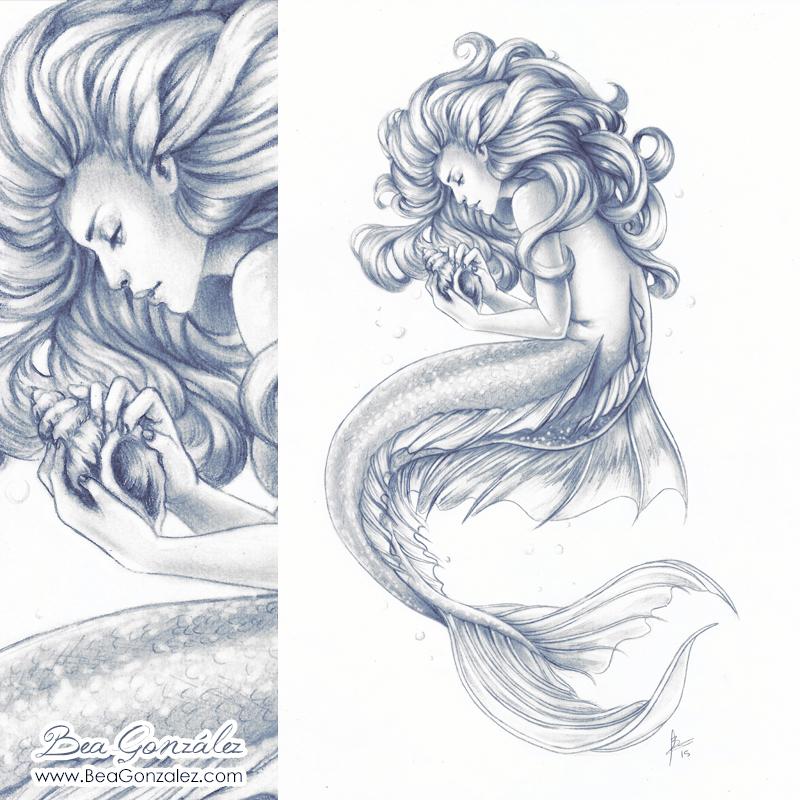 800x800 Commission Mermaid By Bea Gonzalez