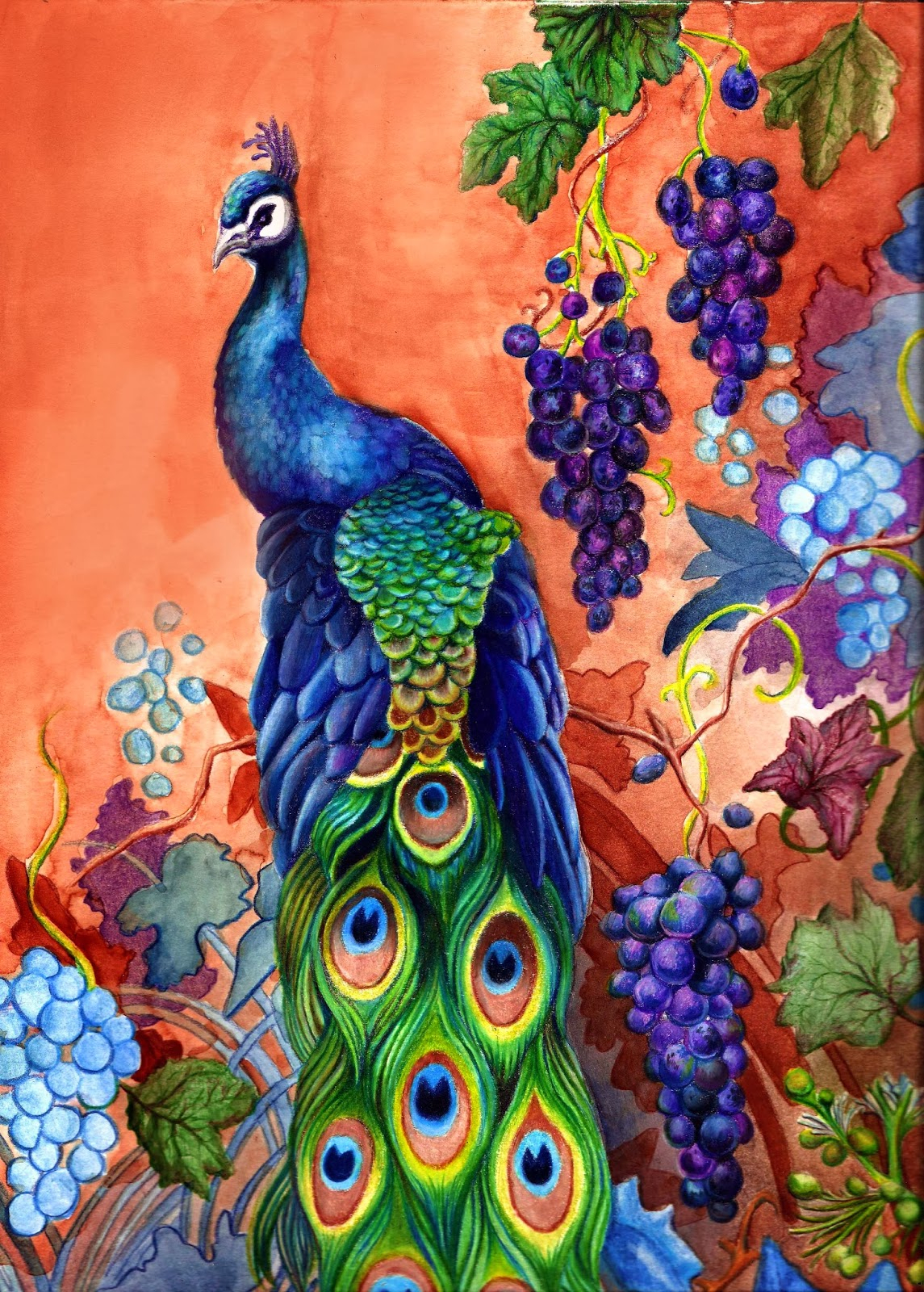 1145x1600 All Beautiful Peacock Pencil Draw Baby Nursery ~ Extraordinary