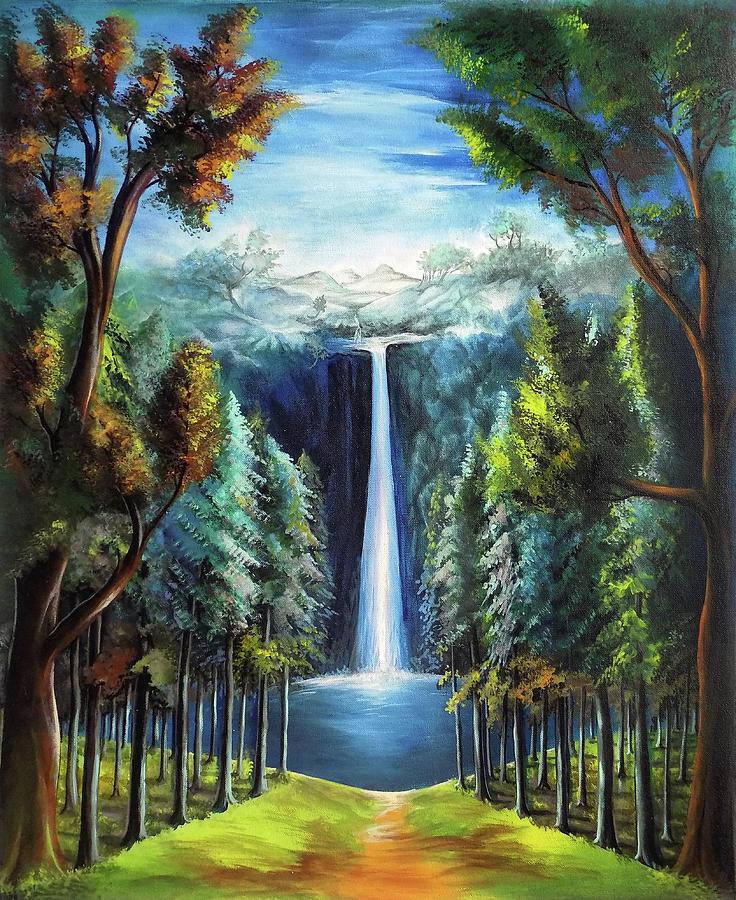 736x900 Beautiful Scenery 3 Drawing by Arun Sivaprasad