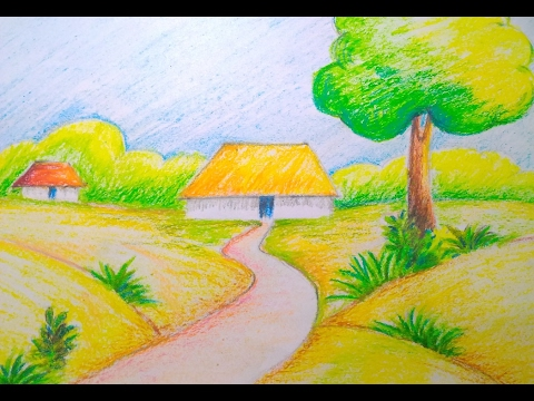 480x360 Beautiful Scenery Drawing Easy Tutorial For Kids