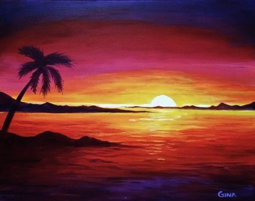 500x394 Sunset Painting Makeup (Natural Phenomena