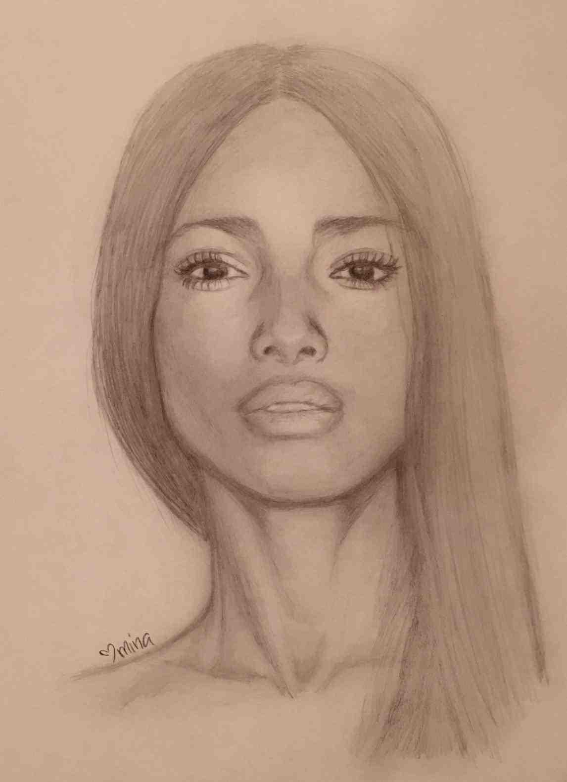 1146x1580 Black Woman Portrait Drawing Of Black Women Portrait Graphite