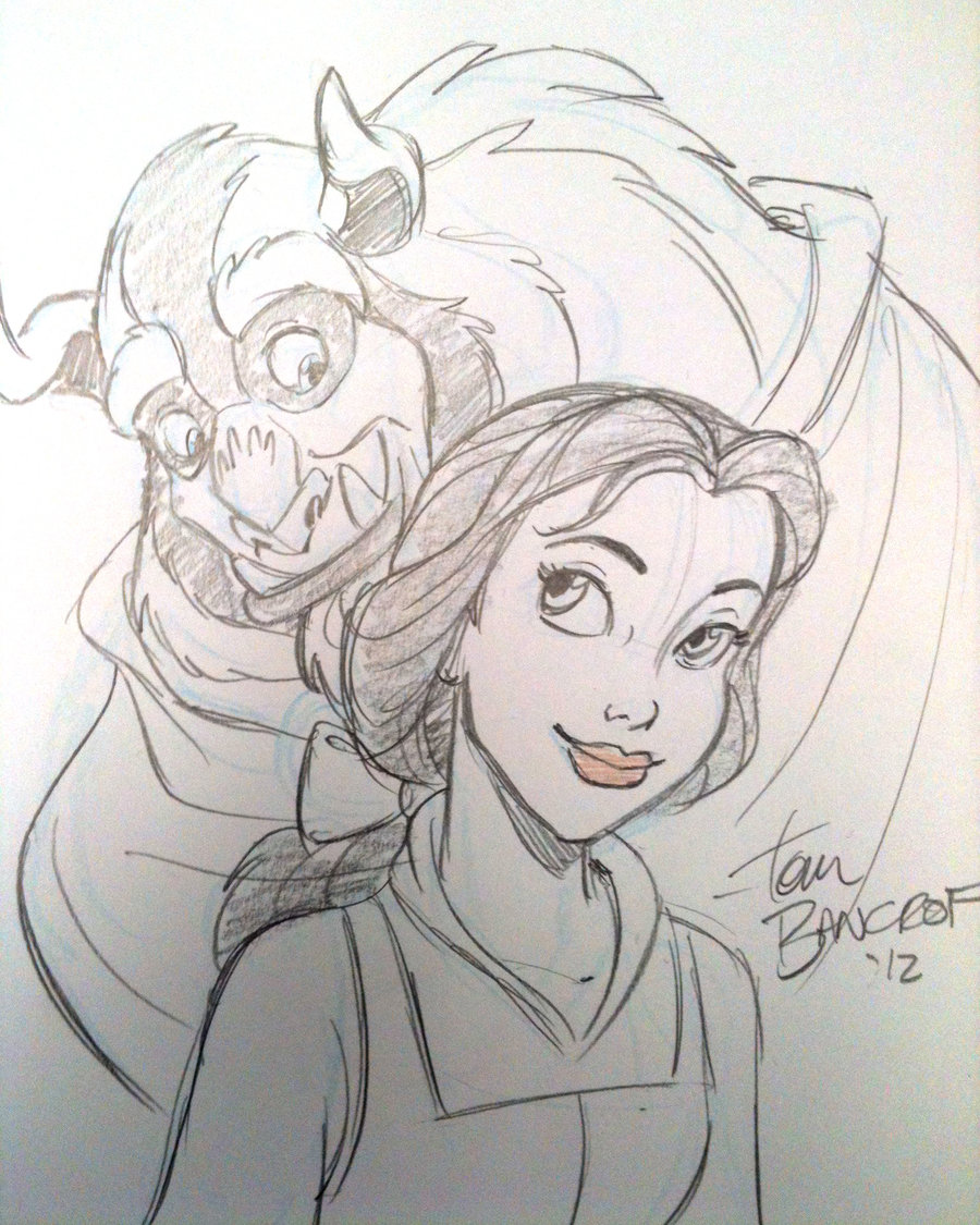 900x1125 Beauty And The Beast Sketch! My Art Beast