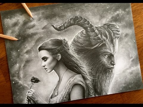 480x360 Drawing Beauty And The Beast 2017