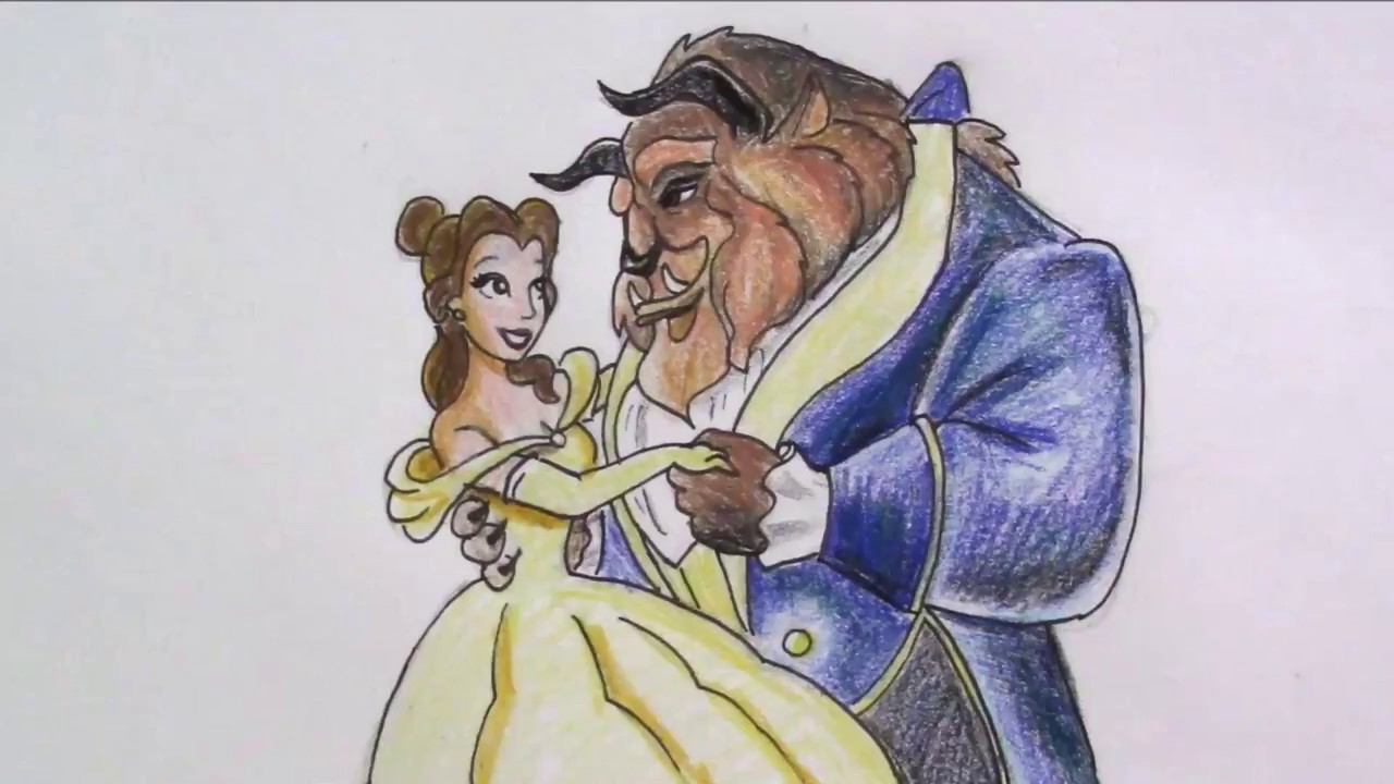 1280x720 How To Draw Beauty And The Beast