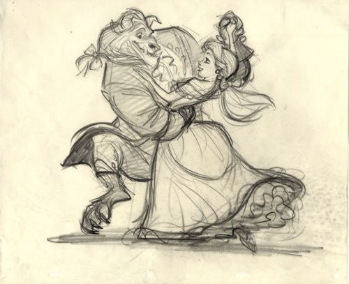500x407 Beauty And The Beast Beast Drawing