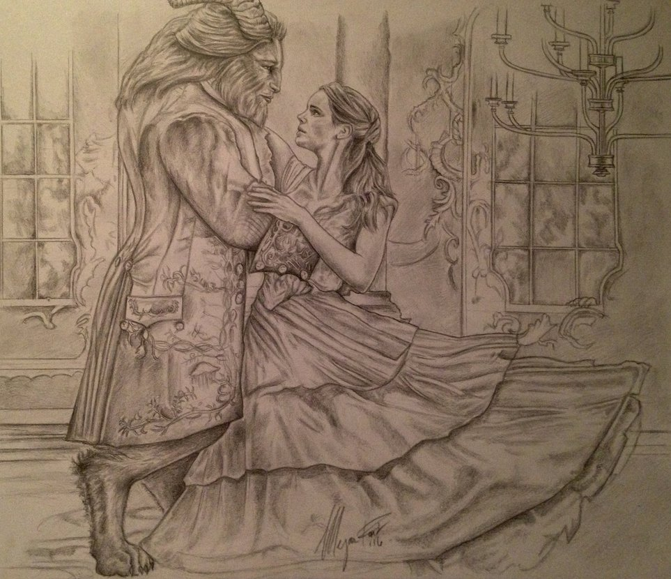 Beauty And The Beast Drawing at GetDrawings.com | Free for personal ...