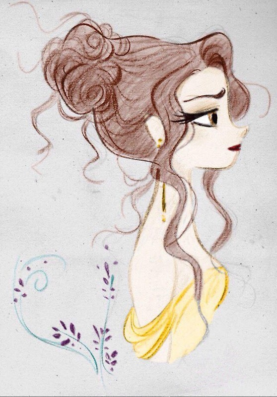 558x800 Beauty And The Beast Drawing Beautiful Magic Stickers By Mariav4