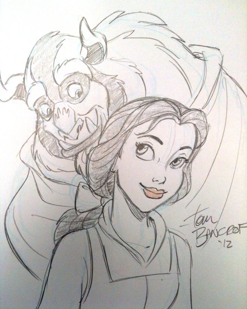 800x1000 Beauty And The Beast Sketch By Tombancroft
