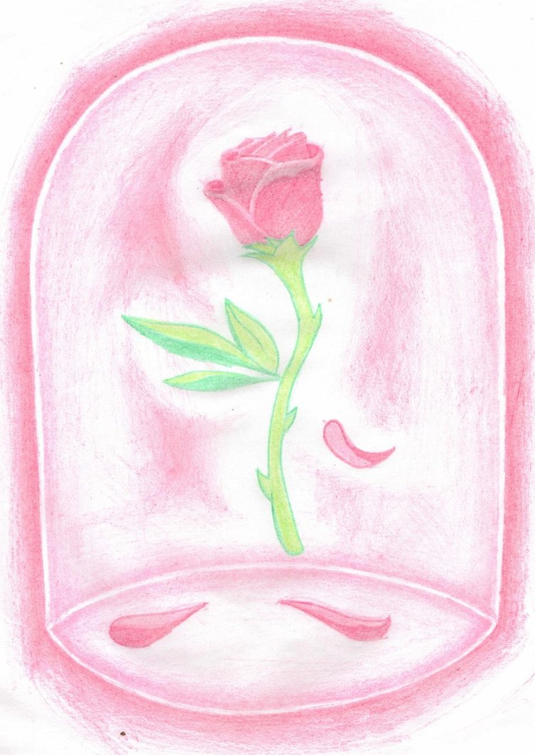 753x1061 Beauty And The Beast Rose By Nathan1991