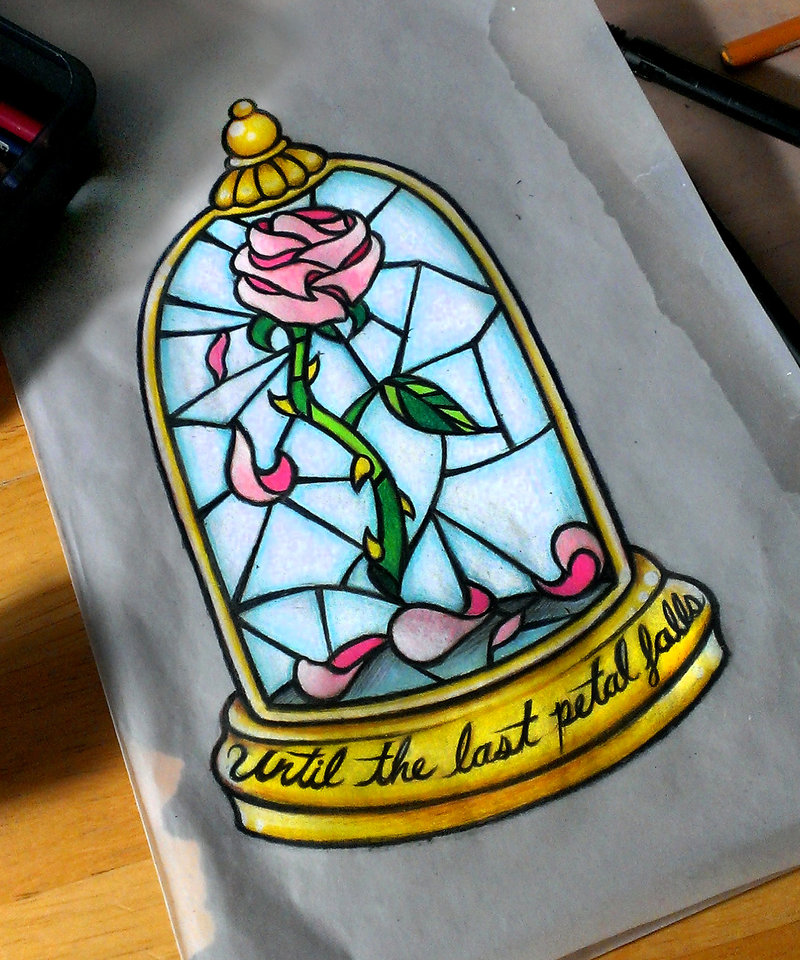 Beauty And The Beast Rose Drawing At Getdrawingscom Free For