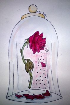 236x354 Beauty And The Beast Rose Commission By